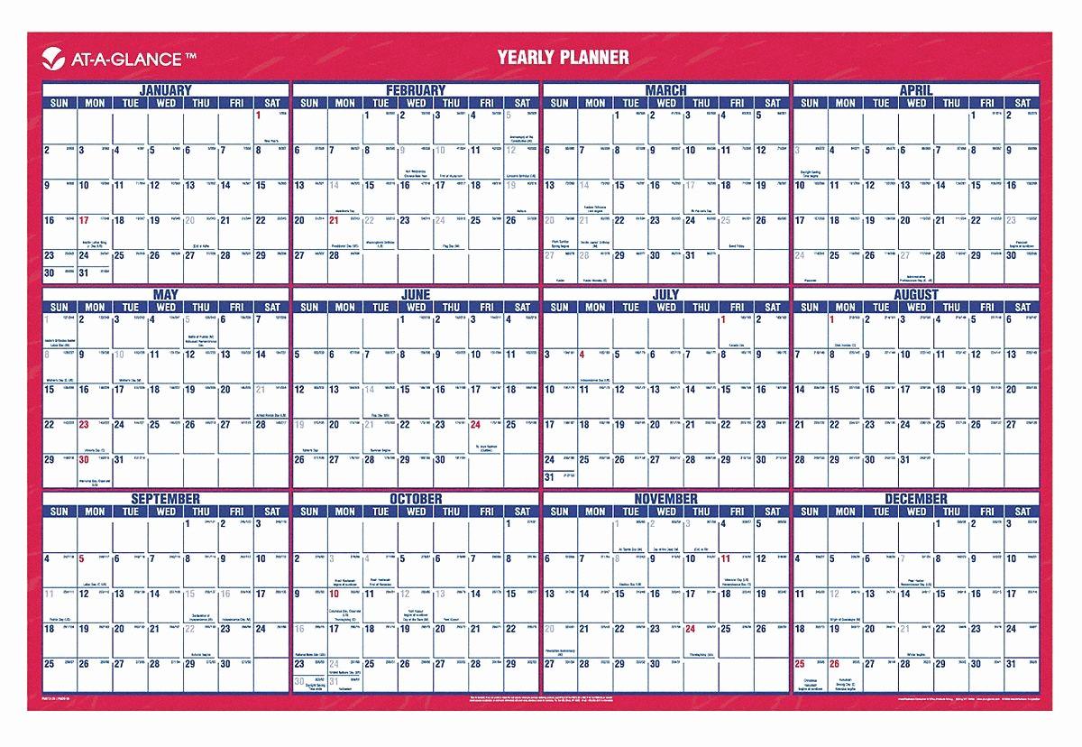 Annual Calendar at A Glance Luxury at A Glance Wall Calendar Yearly 24 X 36 In 6rmn9
