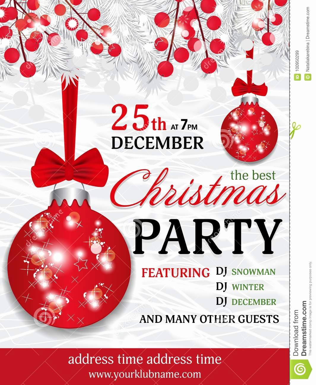 Annual Holiday Party Invitation Template Awesome Template Cartoons Illustrations & Vector Stock