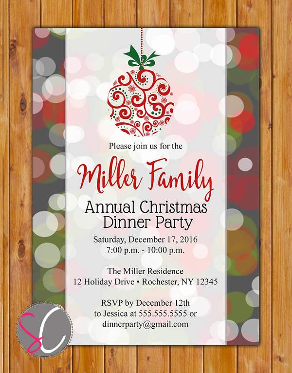 Annual Holiday Party Invitation Template Best Of 62 Printable Dinner Invitation Templates Psd Ai Word