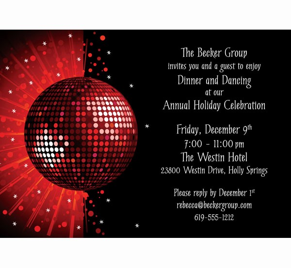 Annual Holiday Party Invitation Template Best Of Dance Party Invitations Dance Party Invitations Using An
