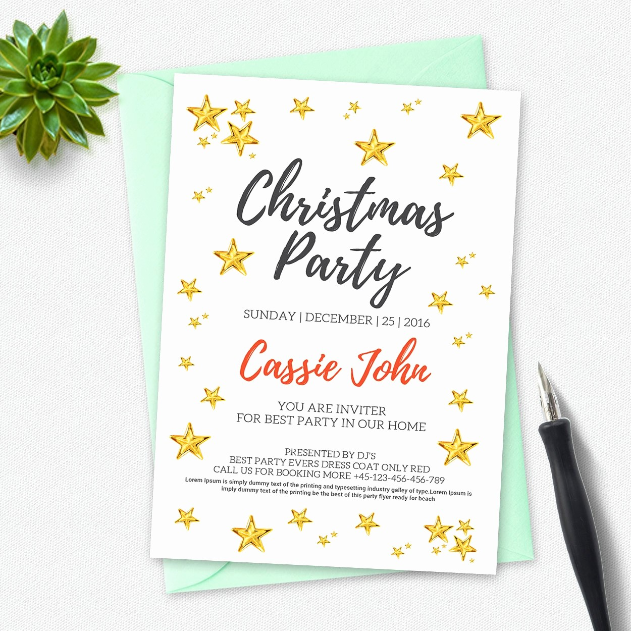 Annual Holiday Party Invitation Template Elegant Christmas Party Invitation Card Invitation Templates