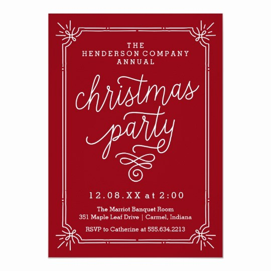 Annual Holiday Party Invitation Template Lovely Rustic Frame Annual Christmas Party Invite