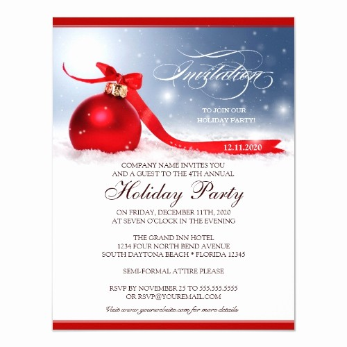 Annual Holiday Party Invitation Template Lovely top 50 Fice Holiday Party Invitations 2015