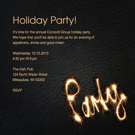 Annual Holiday Party Invitation Template Luxury the Concord Group Annual Holiday Party Line Invitations