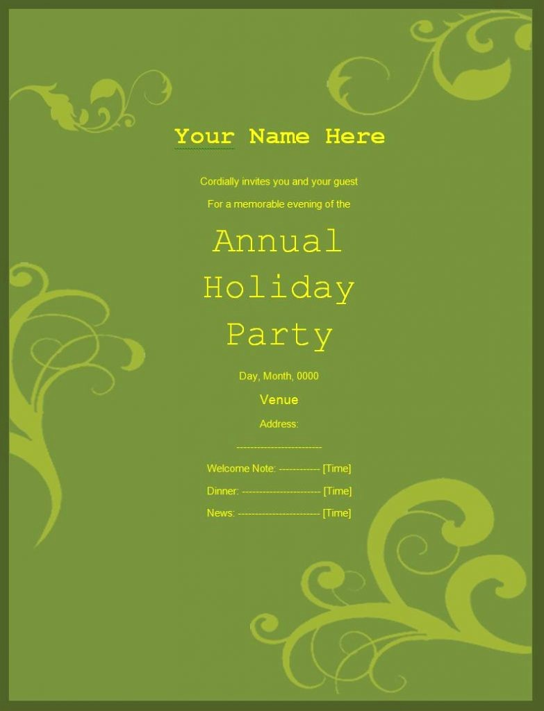Annual Holiday Party Invitation Template New Annual Holiday Party Invitation Template Fwauk