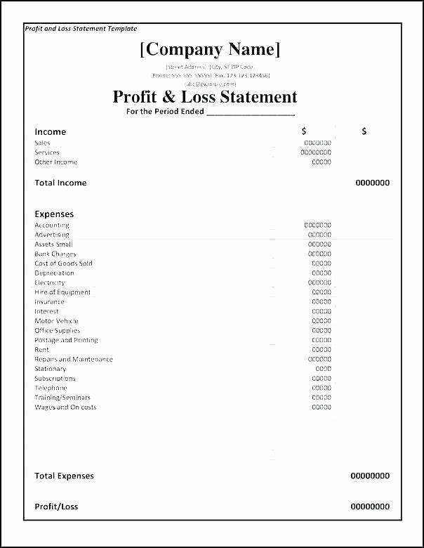 Annual Profit and Loss Statement Best Of Examples Of Profit and Loss Statement – Onwebo