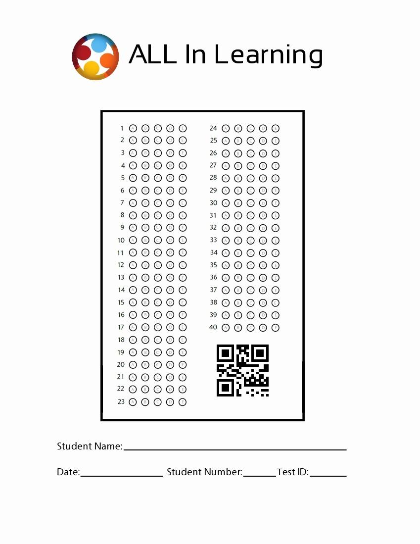 Answer Sheet Template Microsoft Word Elegant Blank Answer Sheet Template 1 100 Choice Image