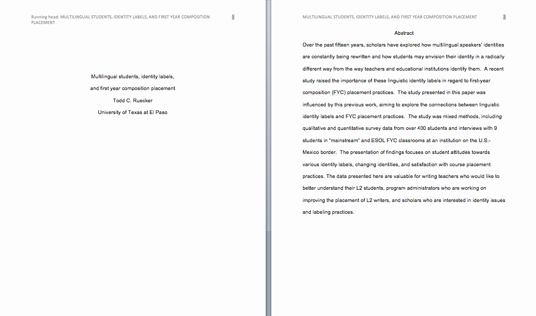 Apa 6th Edition Paper format Lovely How to format Your Paper In Apa