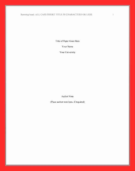 Apa Cover Page format 2016 Awesome Apa Title Page 2016