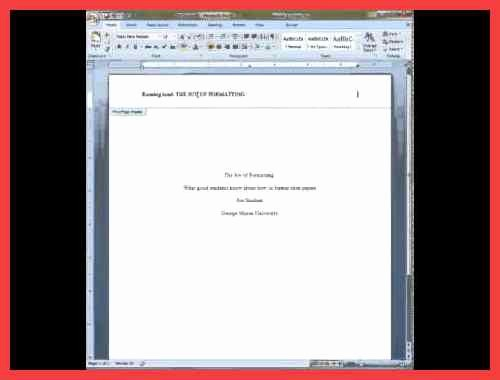 Apa Cover Page format 2016 Inspirational Apa Title Page Example 2016