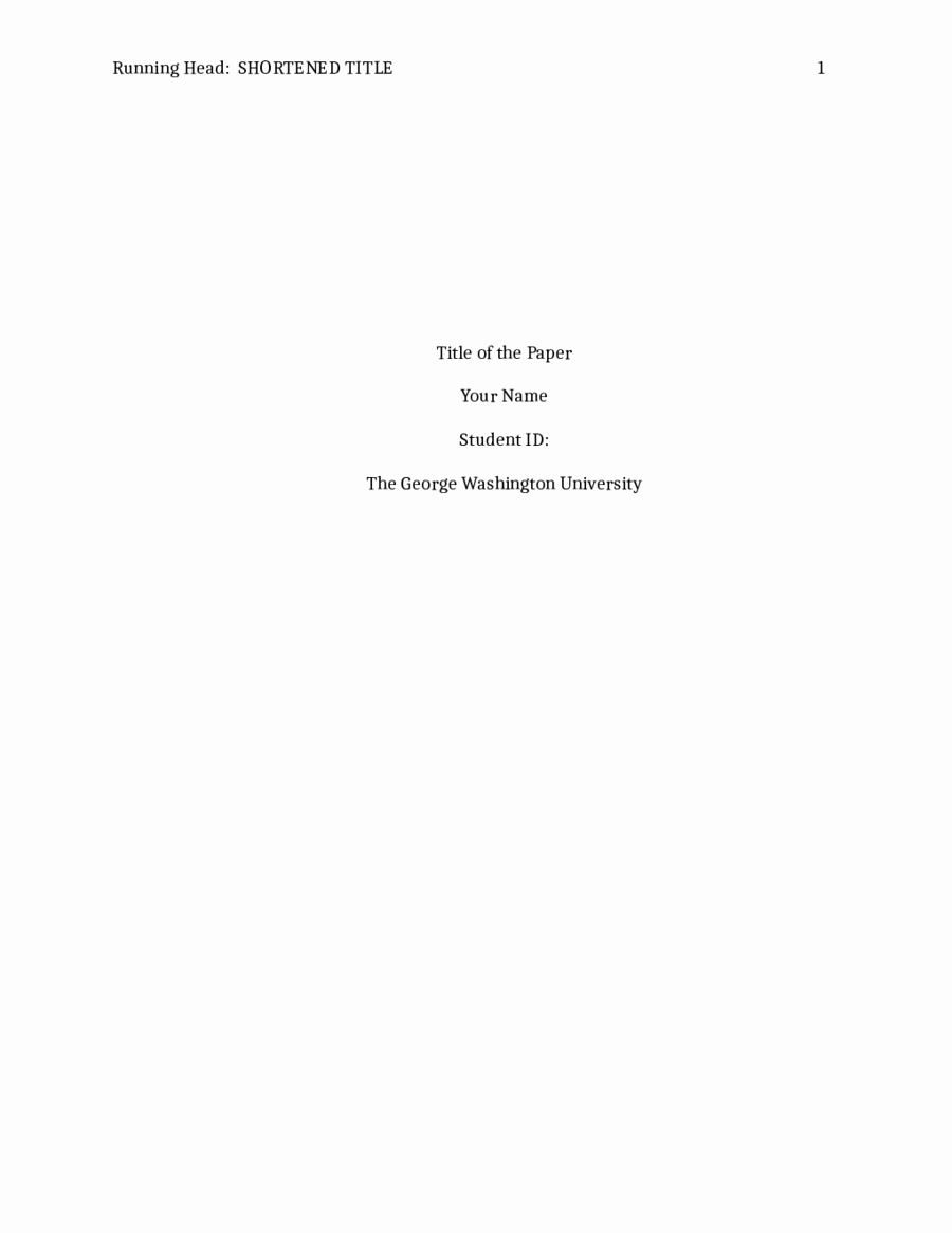 Apa Cover Page format 2016 New Apa Title Page Template