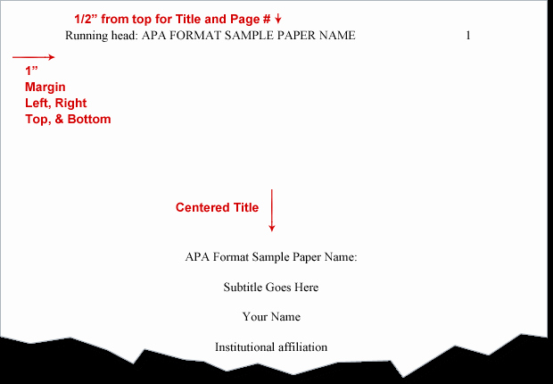 Apa Cover Page format 2016 Unique Apa format Example