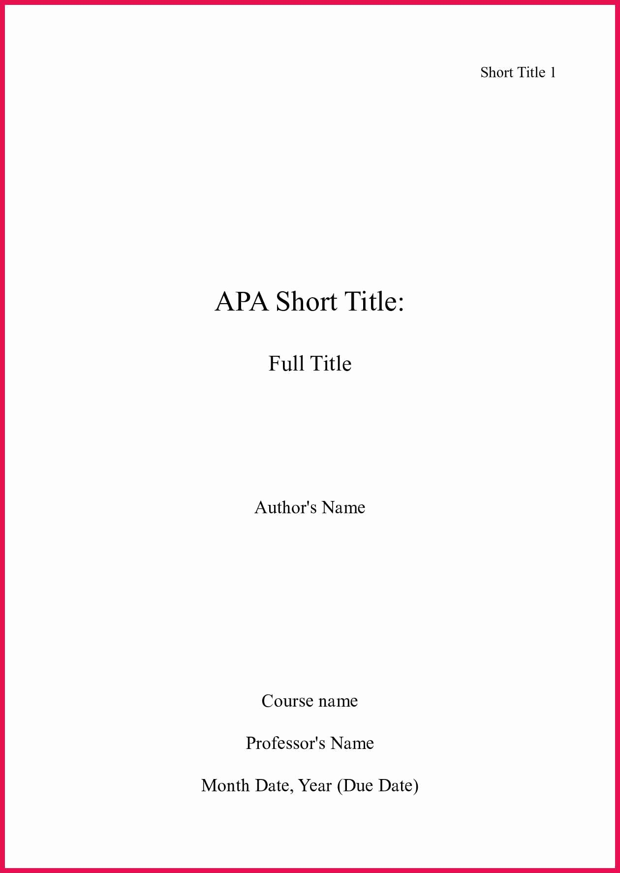 Apa format Cover Page 2016 Beautiful Apa format Cover Page 2016 – Study Tips