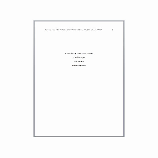 Apa format Cover Page 2016 Best Of Apa Cover Page Template