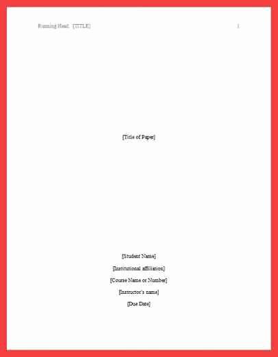 Apa format Cover Page 2016 Elegant Apa Title Page format 2016