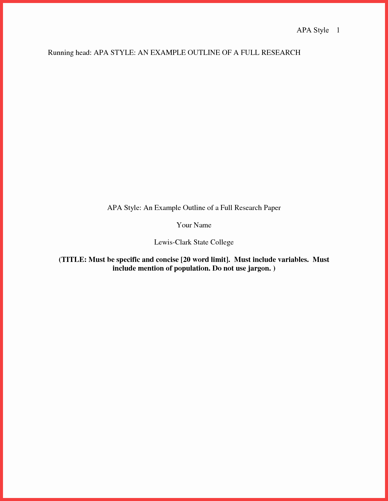 Apa format Cover Page 2016 Lovely Apa format Title Page 2016