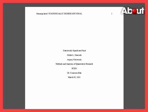 Apa format Cover Page 2016 Unique Apa Title Page format 2016