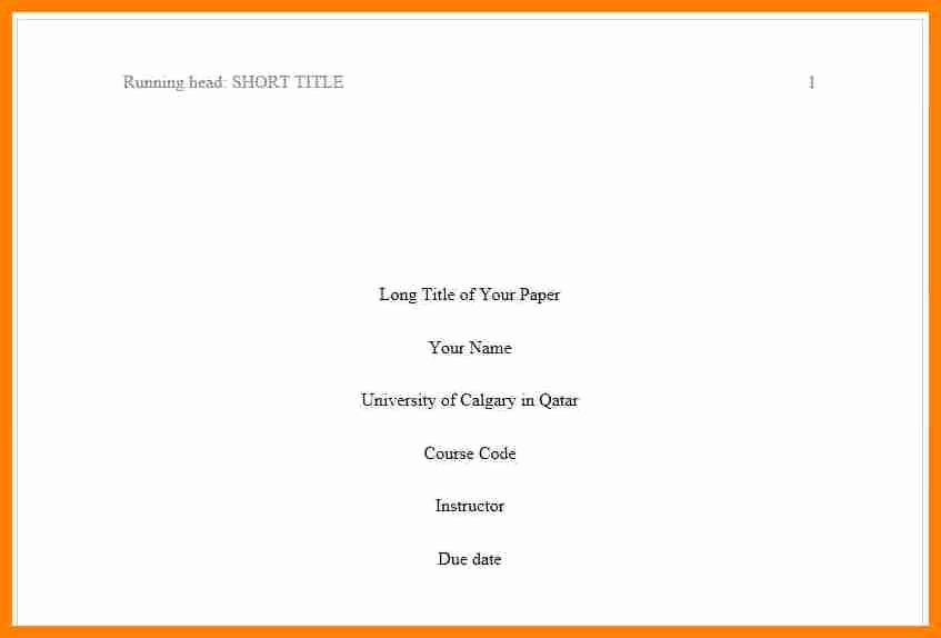 Apa format Cover Page 2017 Best Of What is Acover Letter