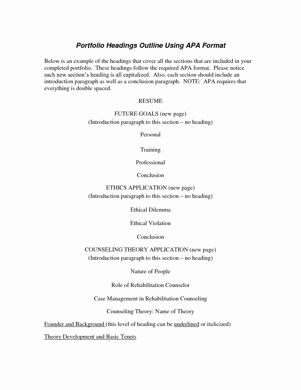 Apa format Example Paper Template Awesome Best S Of Proper Apa Outline format Research Paper