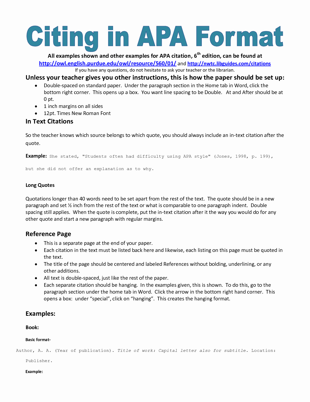 Apa format Example Paper Template Awesome Example Of Apa Citation In Paper