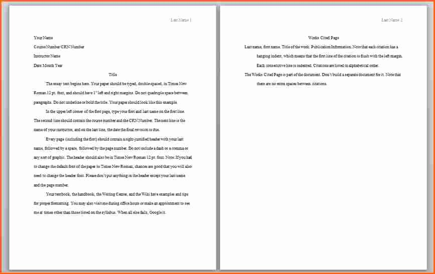 Apa format Example Paper Template Beautiful 6 What is Apa Citation format Example Bud Template