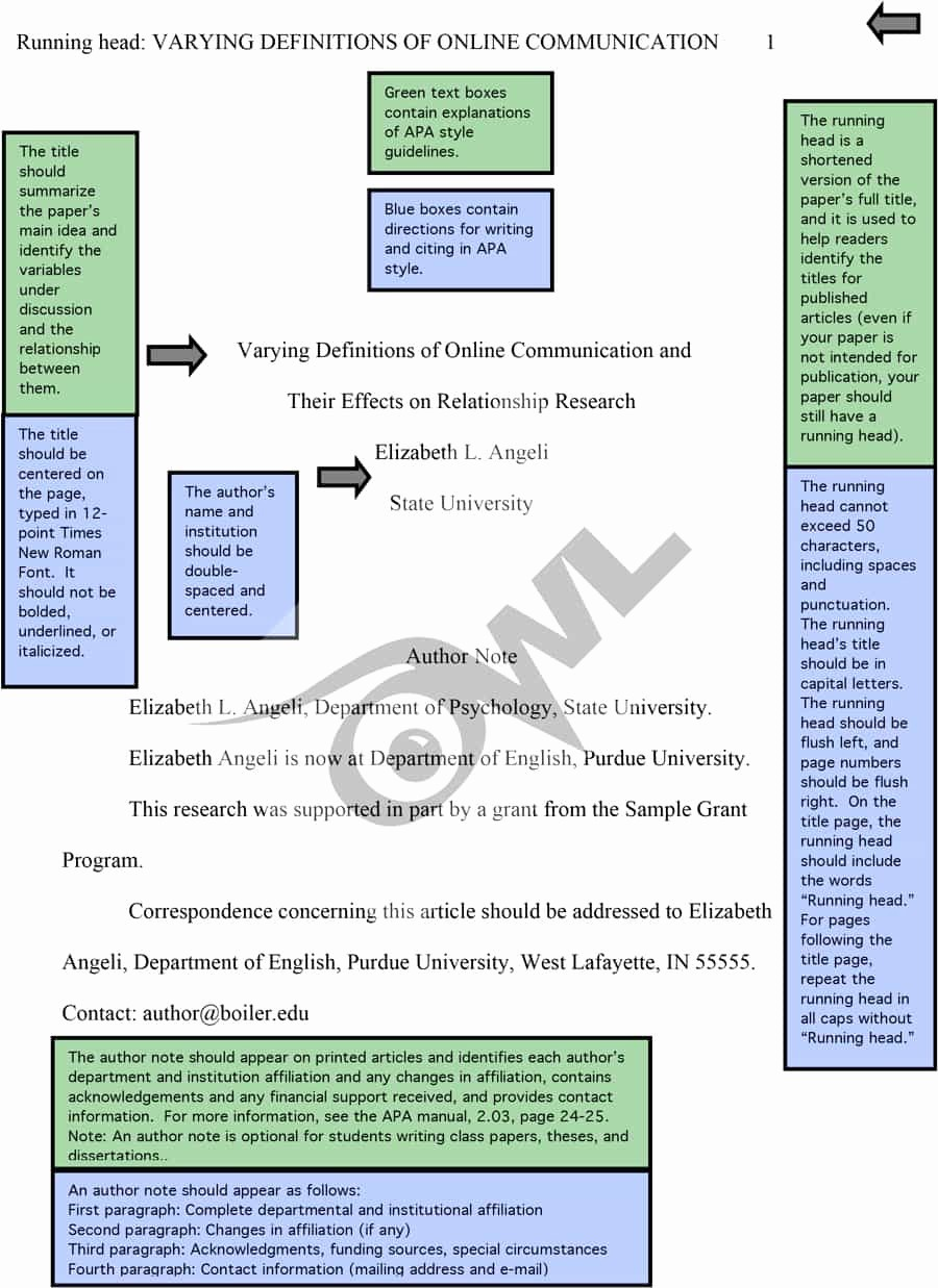 Apa format Example Paper Template Unique 40 Apa format Style Templates In Word & Pdf