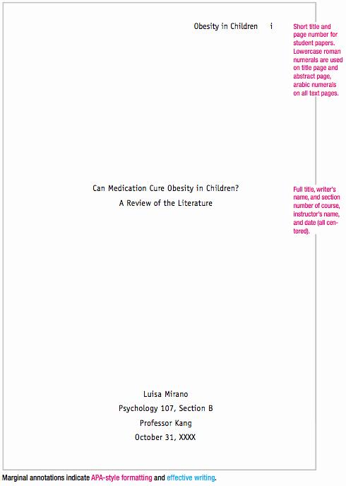 Apa format for A Report Beautiful Sample Apa Paper