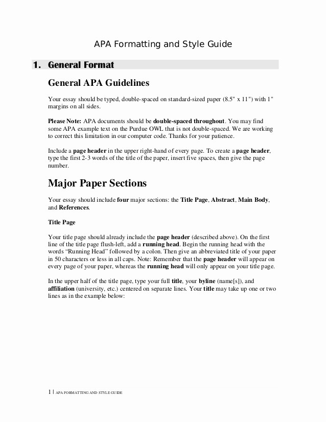 Apa format for A Report Best Of Apa format