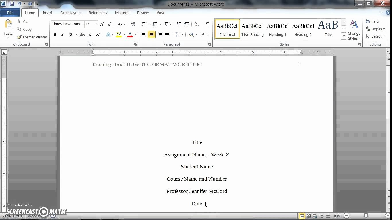 Apa format for Word 2013 Beautiful How to format A Word Doc for Writing An Apa Style College