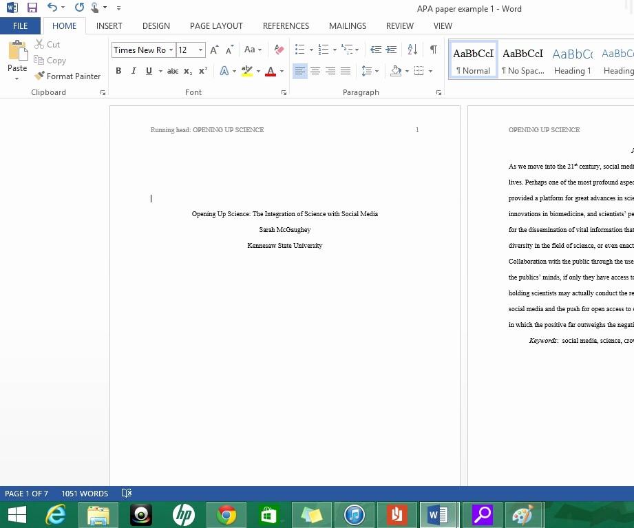 Apa format for Word 2013 Elegant formatting Apa Style In Microsoft Word 2013 8