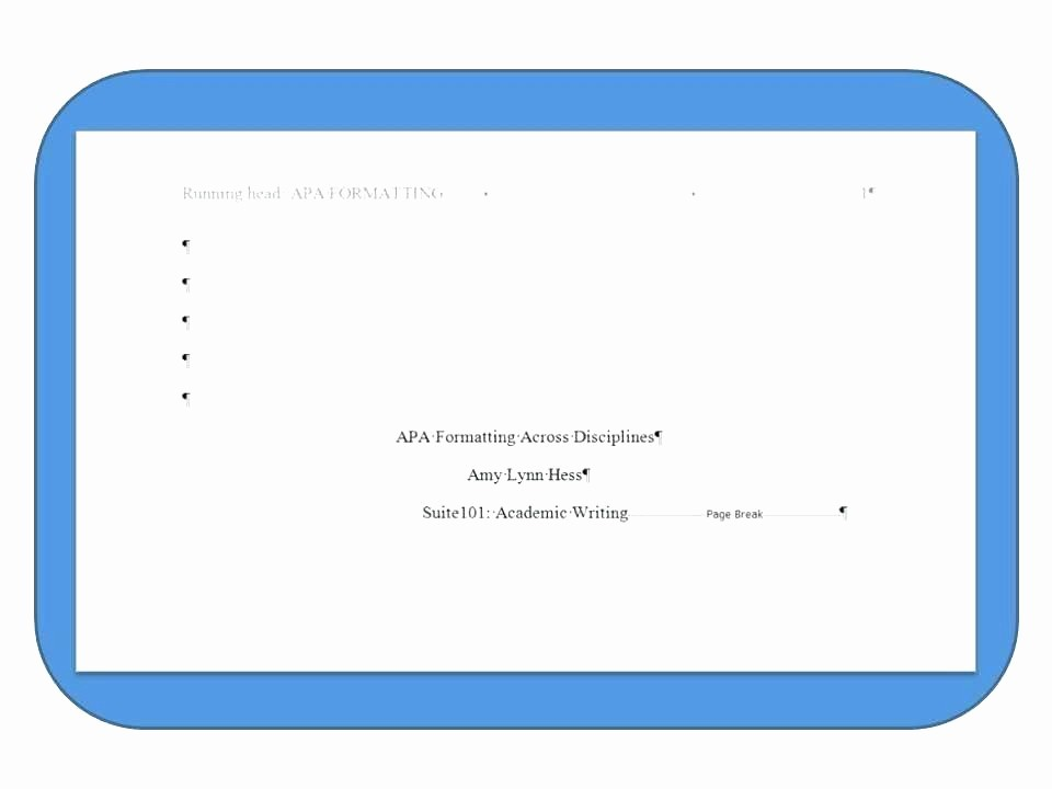 Apa format for Word 2013 New Apa format Title Page Word 2013 Cover Template New