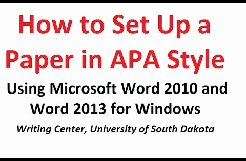 Apa format for Word 2013 New How to format A Paper In Apa Style Using Microsoft Word
