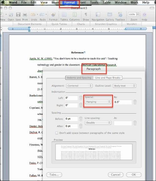 Apa format Microsoft Word Mac Awesome Hanging Indents Ugh