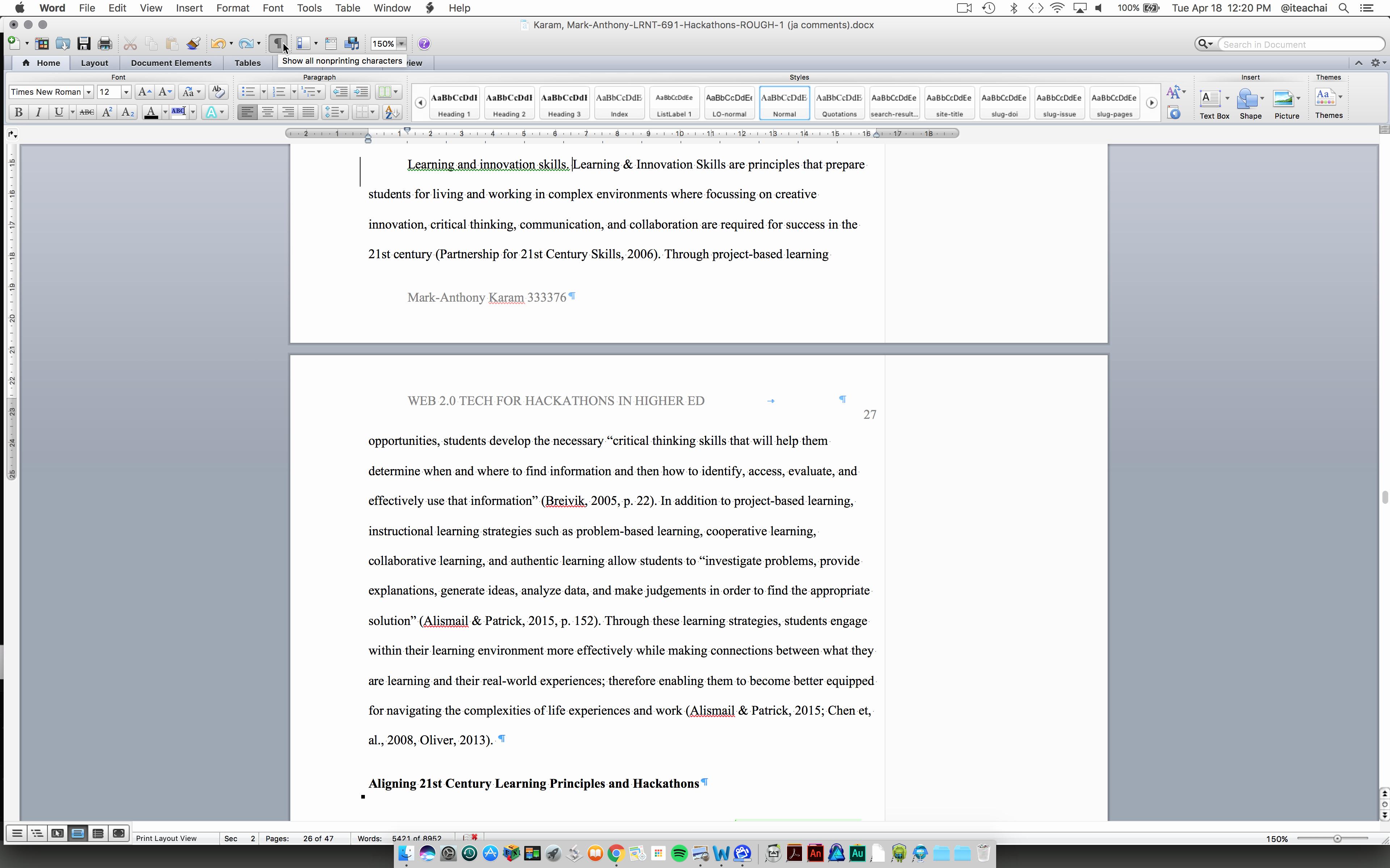 Apa format Microsoft Word Mac Elegant formatting Inline Level 3 Apa Headings Using Microsoft