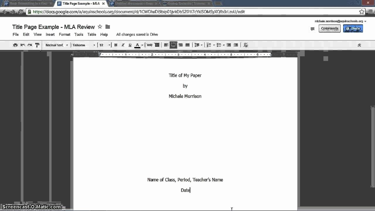 Apa format Open Office Template Best Of Mla Review Title Page