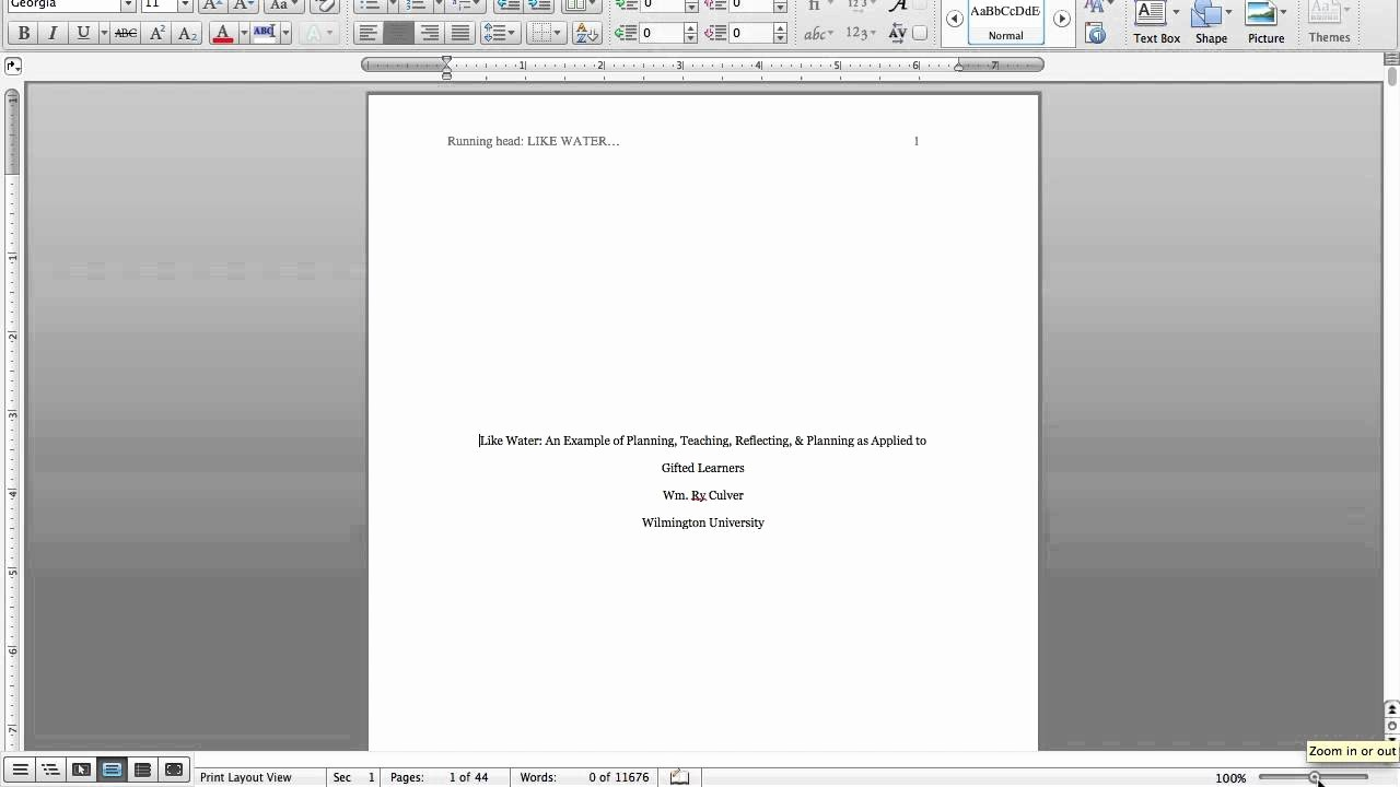 Apa format Open Office Template Fresh 3 Apa format Title Page