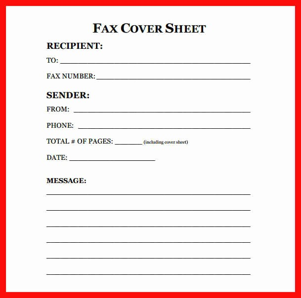 Apa format Open Office Template Lovely Printable Fax Cover Sheet