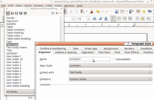 Apa format Open Office Template Luxury Customizing Libre Fice