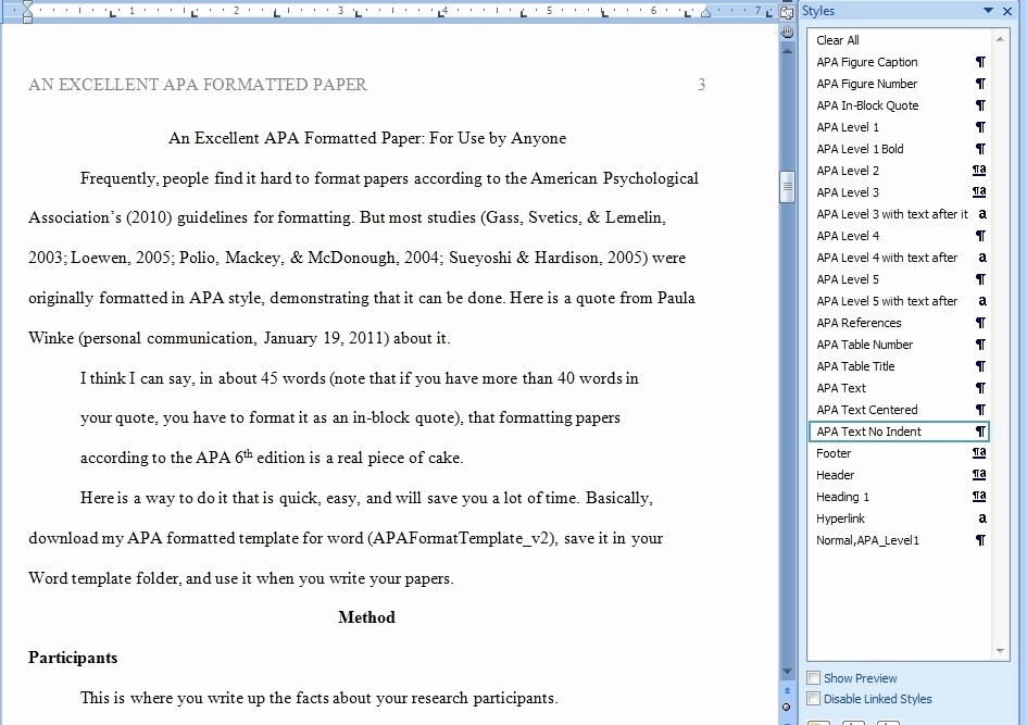 Apa format Open Office Template Unique Apa format Template Word 2013