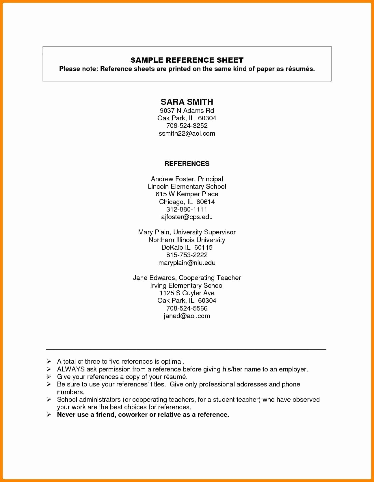 Apa format Open Office Template Unique Resume and Template Resume References Template Free