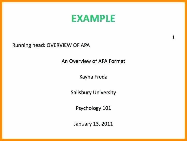 Apa format Paper 6th Edition Awesome Apa Style 6th Edition Examples