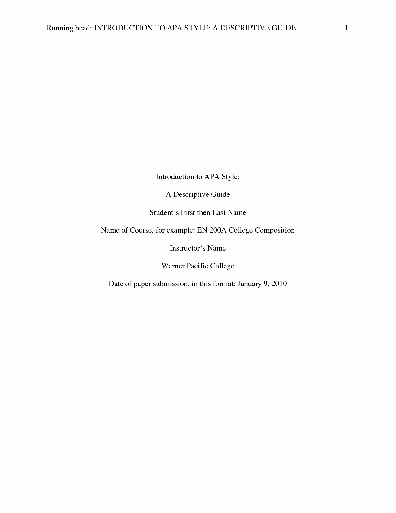 Apa format Paper 6th Edition Beautiful Apa Paper Template