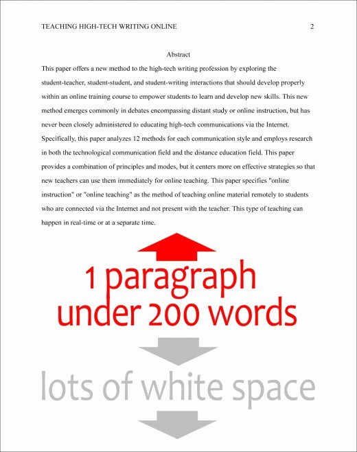 Apa format Paper 6th Edition Beautiful format the Abstract Page In Apa Style 6th Edition