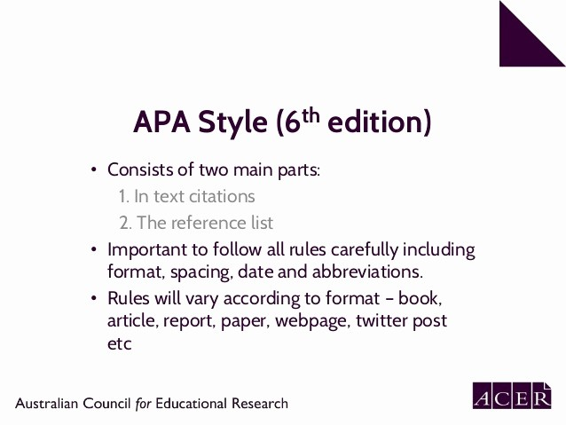 Apa format Paper 6th Edition Lovely 6th Edition Apa format In Text Citation Templates