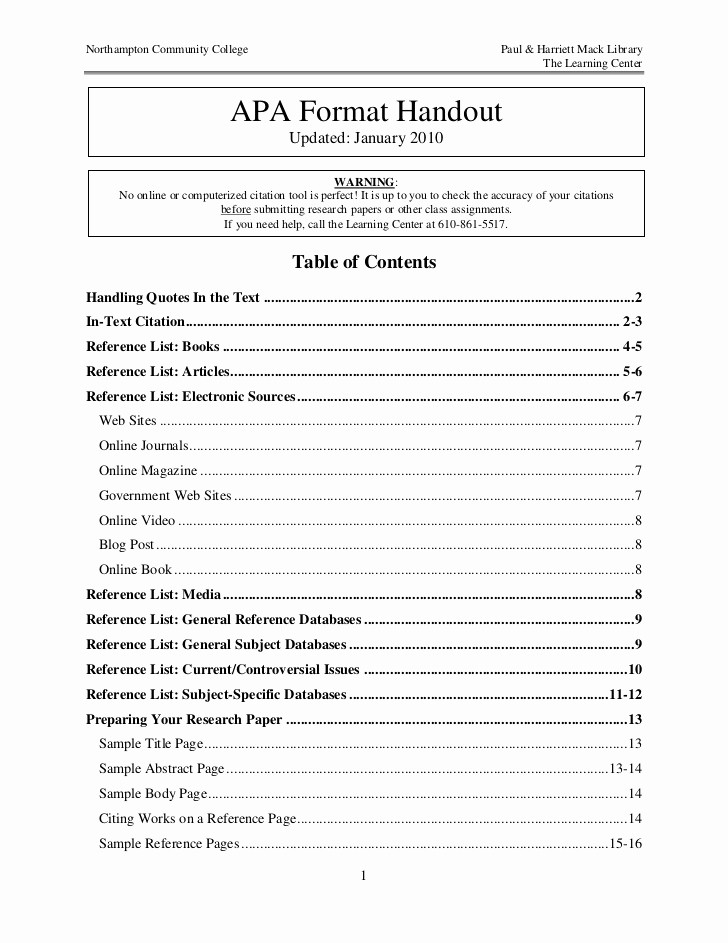 Apa format Paper 6th Edition Lovely Apa format