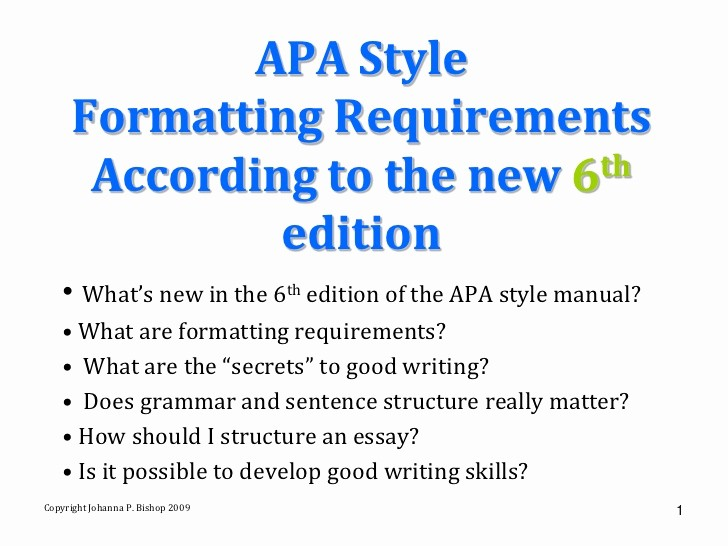 Apa format Paper 6th Edition Luxury 6th Ed Apa Style Manual