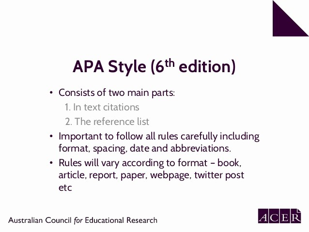Apa format Paper 6th Edition Luxury Apa 6th Edition Referencing Part 1 In Text Citation