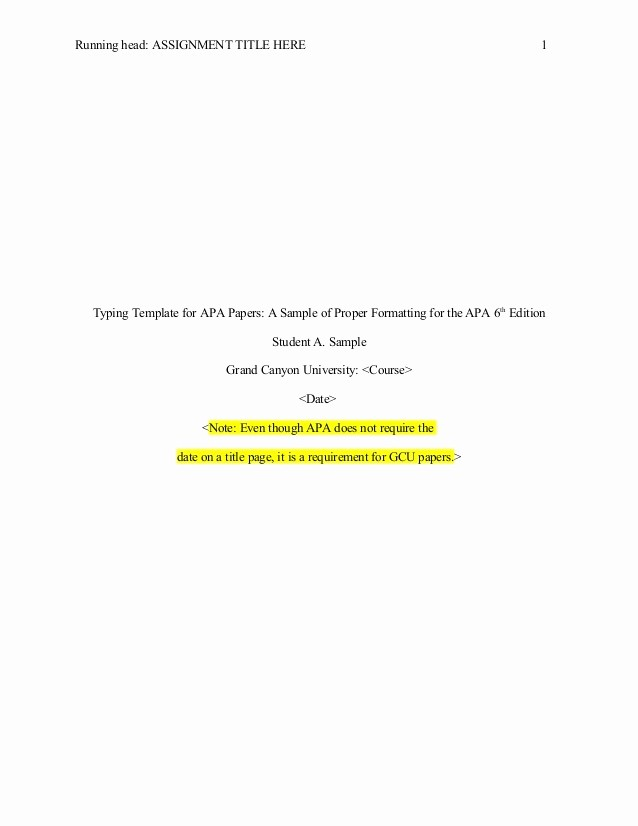 Apa format Paper 6th Edition New Apa format 6th Edition Template Templates Resume