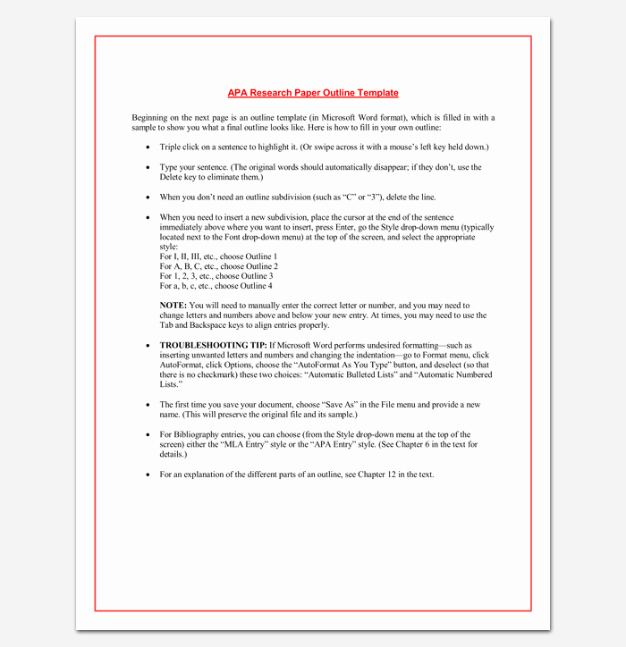 Apa format Sample Paper Doc Awesome Research Paper Outline Apa format 7 Examples and Samples