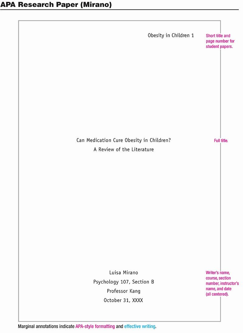 Apa format Sample Paper Doc Beautiful Flat Blog
